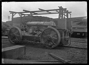 New Zealand TR class locomotive - Petone Workshop built TR1. AP Godber, Alexander Turnbull Library