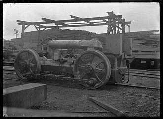 New Zealand TR class locomotive - Petone Workshop built TR1, about 1925. AP Godber collection, Alexander Turnbull Library.