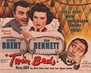 Twin Beds (1942 film) - Theatrical poster