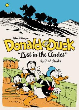 The Complete Carl Barks Disney Library - Cover to the first published volume, Lost in the Andes