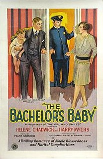 <i>The Bachelors Baby</i> 1927 silent film comedy directed by Frank R. Strayer