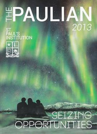 St. Paul's Institution - The Paulian front cover, 2013 edition.