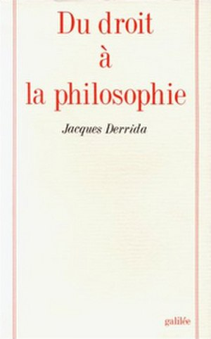 Right to Philosophy - Cover of the first edition