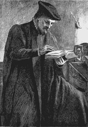 Thomas Bilney - Illustration from Foxe's Book of Martyrs