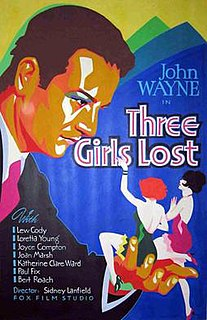 <i>Three Girls Lost</i> 1931 film