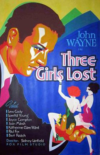 Three Girls Lost - Theatrical release poster