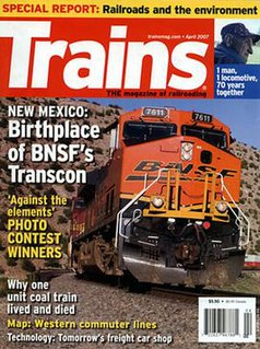 <i>Trains</i> (magazine) magazine dedicated to trains and railroads