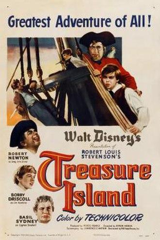 Treasure Island (1950 film) - Theatrical release poster