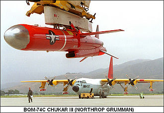 History of unmanned aerial vehicles - A BQM-74 Chukar III, turbojet-powered aerial target drone