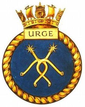 HMS Urge - Image: URGE badge 1