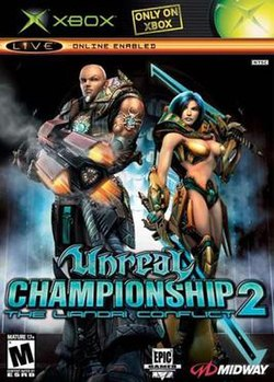 Unreal Championship U.S. Xbox box cover