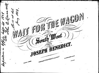 "Wait for the Wagon - Cover of ""Wait For The Wagon"", 1851."