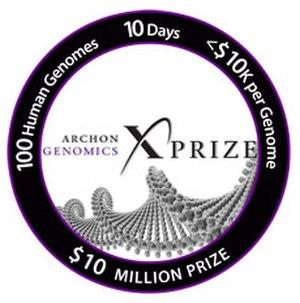 Archon X Prize - Image: X Prize genomics logo round