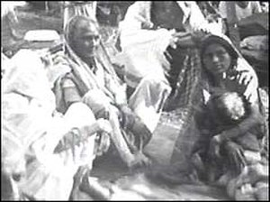 1964 East Pakistan riots - Hindu refugees from East Pakistan on their way to Kolkata.