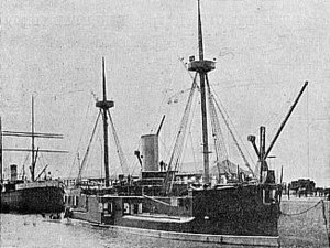 ARA Almirante Brown (1880) - Almirante Brown in harbor