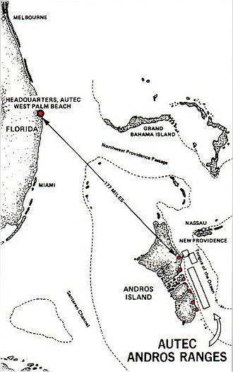 Atlantic Undersea Test and Evaluation Center - Image: AUTEC Andros Ranges w border