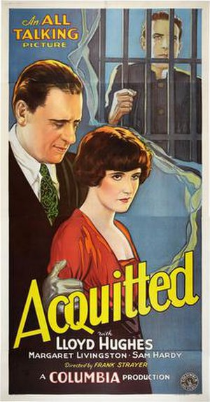 Acquitted (1929 film) - Theatrical poster for film
