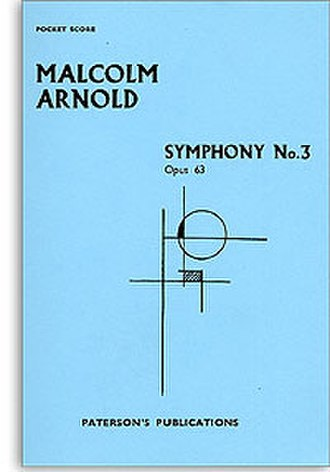 Symphony No. 3 (Arnold) - Cover of the printed score of Malcolm Arnold's Symphony No. 3