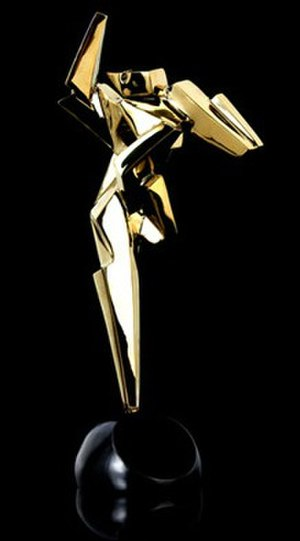 Asian Film Awards - The former Asian Film Awards trophy designed by William Chang used in the 3rd Asian Film Awards in 2009.