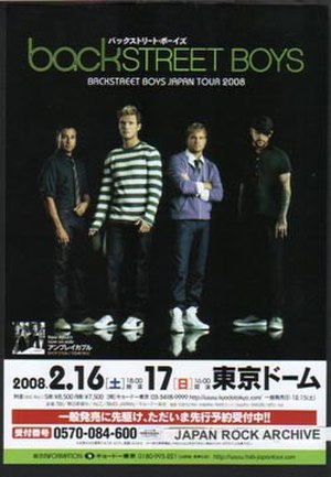 Unbreakable Tour (Backstreet Boys tour) - Image: Bk St Boys 2008Tour Poster