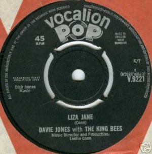 Liza Jane (David Bowie song) - Image: Bowie Liza Jane