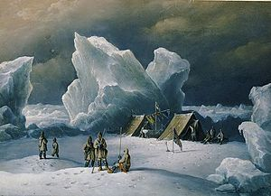 Albert Hastings Markham - Captain Markham's most northerly encampment, by Admiral Richard Brydges Beechey