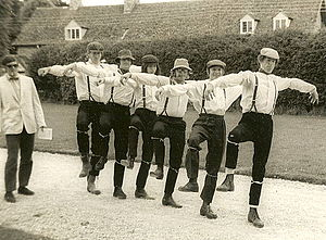 The Cloggies - The lads limber up with a Single Leg Arkwright, pursued by Morris with a contract