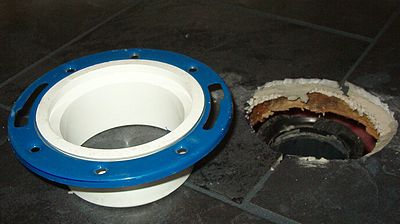 Closet Flange Wikipedia The Free Encyclopedia