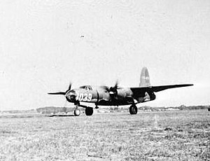 Dale Mabry Army Airfield - MacDill Field B-26 Marauder lands for visit