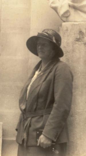 Dorothea Bate - Dorothea Bate at Valletta. Malta, 5 April 1934.