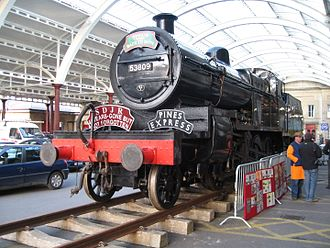 S&DJR 7F 2-8-0 - 53809, at Green Park Station (now a car park) in Bath, 6 March 2006.