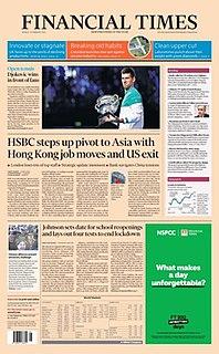 <i>Financial Times</i> London-based daily newspaper