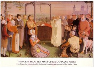 Forty Martyrs of England and Wales - Image: Forty Martyrs of England and Wales