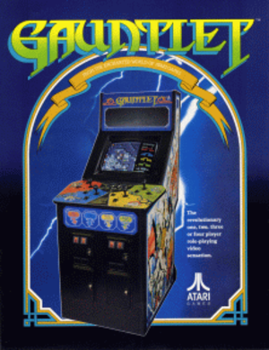 Gauntlet (1985 video game) - Image: Gauntlet game flyer