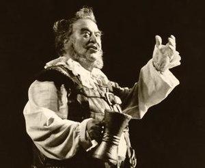 Giuseppe Taddei - Taddei as Falstaff at the Metropolitan Opera in 1985.