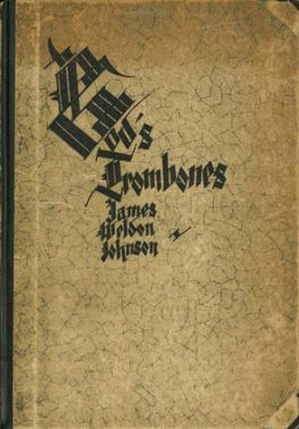 God's Trombones - The cover to the 1927 edition of God's Trombones: Seven Negro Sermons in Verse by James Weldon Johnson, with artwork by Aaron Douglas