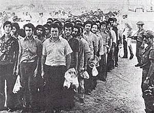 Turkish invasion of Cyprus - Greek Cypriot prisoners taken to Adana camps in Turkey