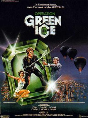 Green Ice - French poster
