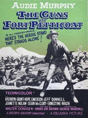 The Guns of Fort Petticoat - Original film poster