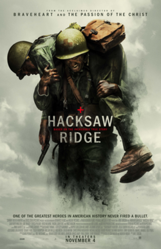 Hacksaw Ridge - Theatrical release poster