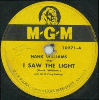 I Saw the Light (Hank Williams song) - Image: Hank Williams I Saw the Light cover