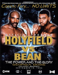 Evander Holyfield vs. Vaughn Bean Boxing competition