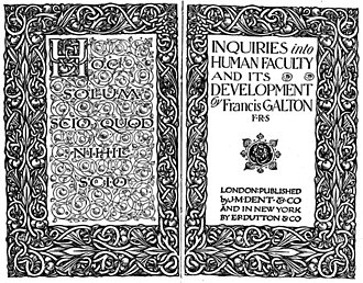 Inquiries into Human Faculty and Its Development - Image: Inquiries into human faculty cover