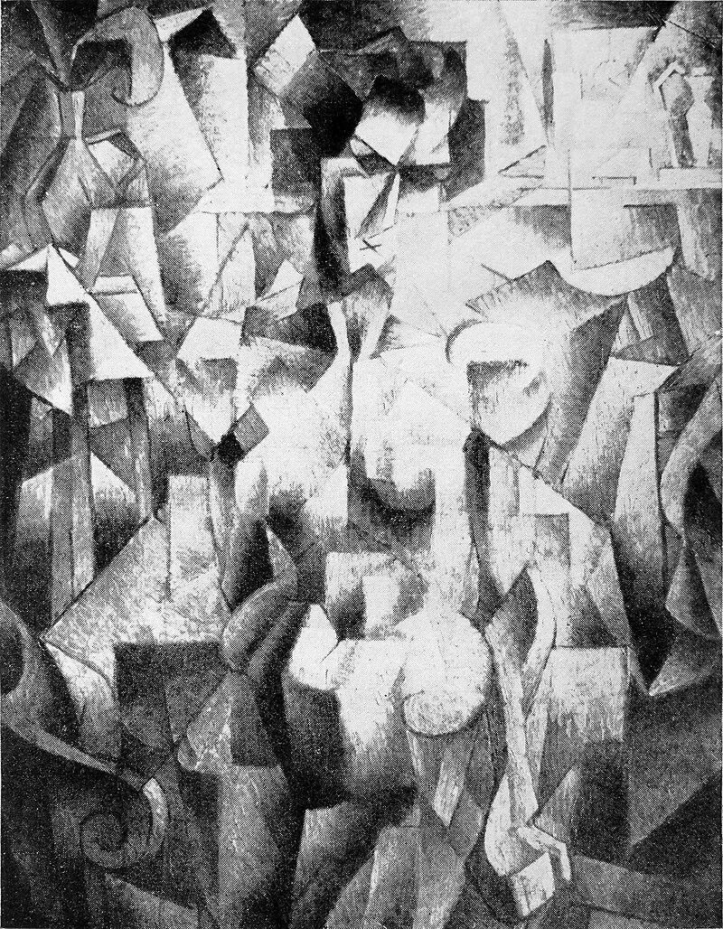 Jean Metzinger de 1910, Nu à la cheminée, publicado en Les Peintres Cubistes, 1913.jpg
