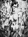 Jean Metzinger, 1910, Nu à la cheminée, published in Les Peintres Cubistes, 1913.jpg