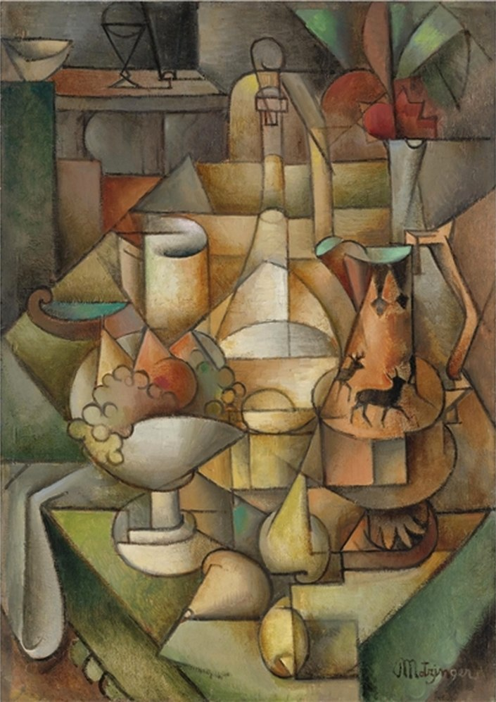 Jean Metzinger, ca 1911, Nature morte, oil on canvas, 93.5 by 66.5 cm