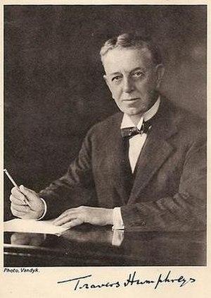 Travers Humphreys - Travers Humphreys in about 1928