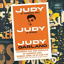 Judy Garland at carnegie hall