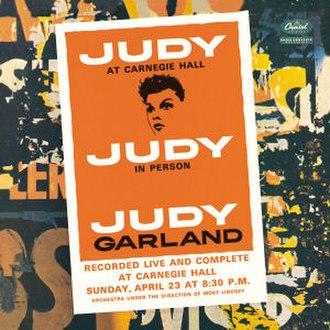 Judy at Carnegie Hall - Image: Judyat Carnegie Hall