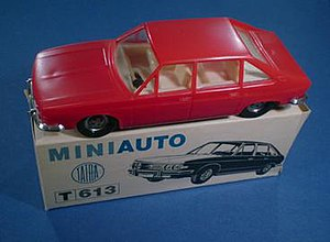 Kaden models - Kaden TatraT613 sedan. Though plastic, probably the best detailed and proportioned scale model car to come out of eastern Europe.